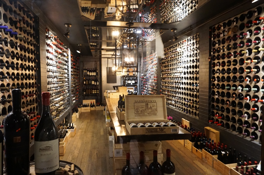 The wine cellar..