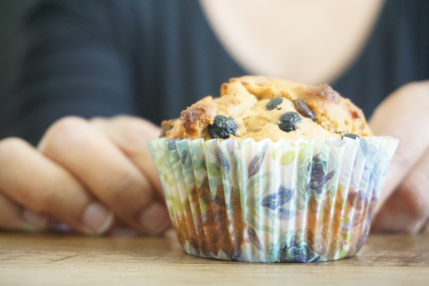 Whole Wheat Blueberry Chocolate Chip Muffins