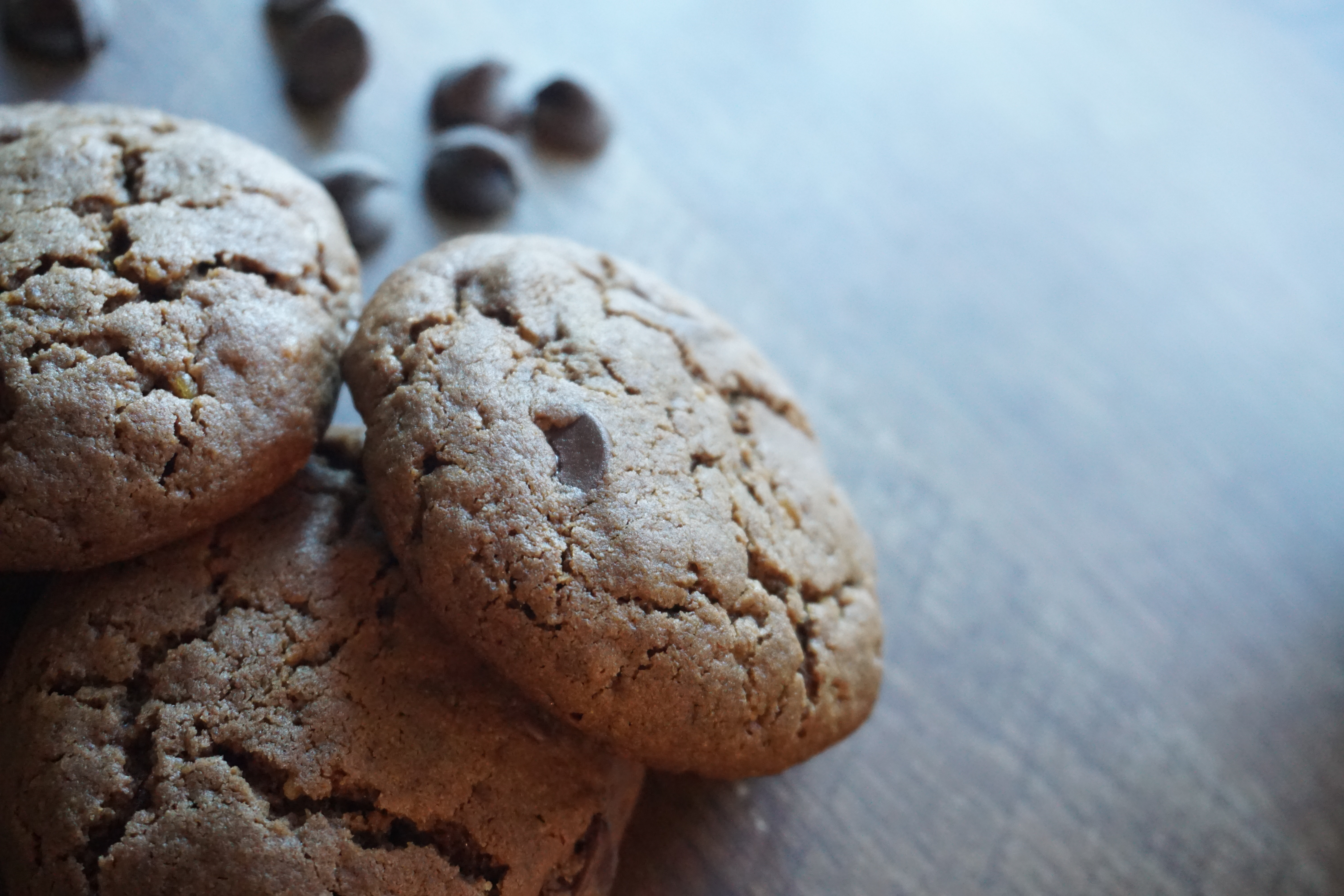 Whole Wheat Double Chocolate Chip Cookies