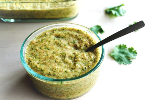 Tomato Cilantro Garlic Chutney In a Bowl