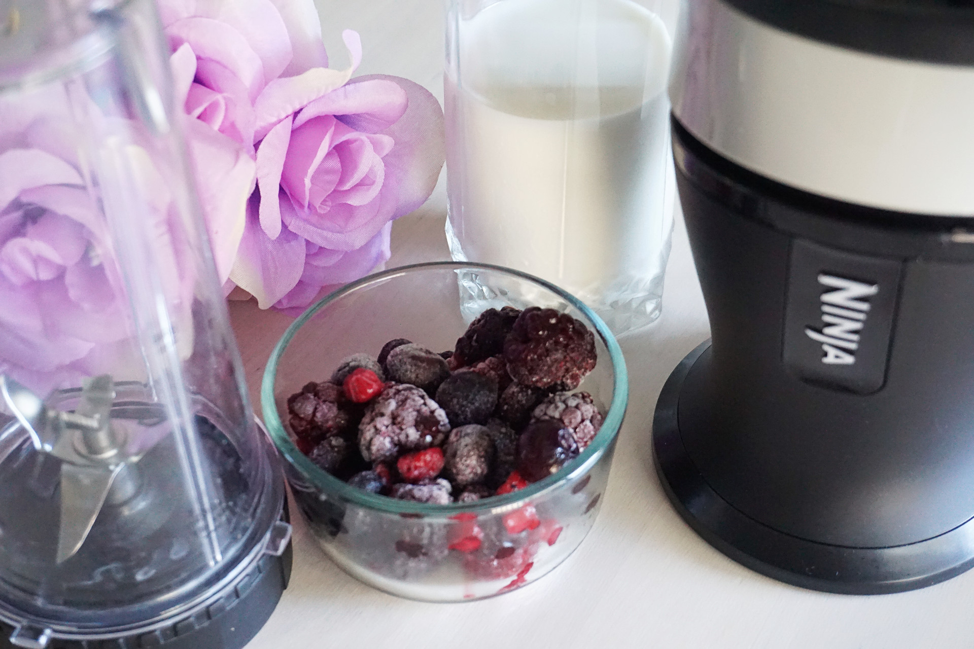 berries and blender