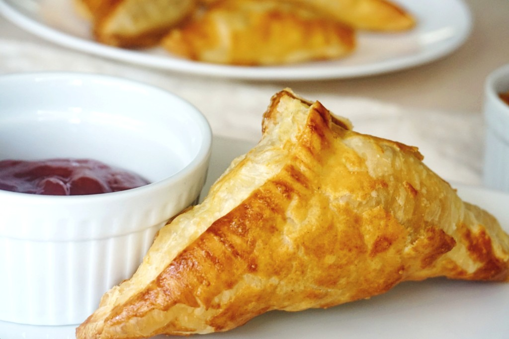 puff pastry with ketchup by side